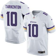 Nike Elite Fran Tarkenton White Men's Jersey - Minnesota Vikings #10 NFL Road