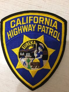 Shoulder Patch Police California Highway Patrol USA 100% Original New Rarity   | eBay