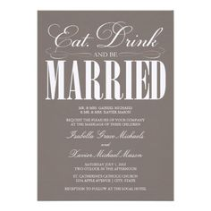 This Deals5 x 7 Eat, Drink & Be Married   Wedding Invitationwe are given they also recommend where is the best to buy