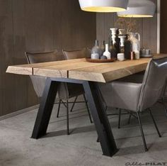 Industrial dining furniture - Wonderful Contemporary Dining Room Decorating Ideas To Try – Industrial dining furniture Furniture Sets Design, Dining Furniture Sets, Industrial Design Furniture, Modern Industrial, Industrial Table, Vintage Industrial, Steel Furniture, Wooden Furniture, Kitchen Furniture