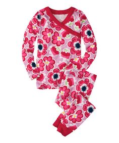 This Pink & Red Floral Long John Pajama Set - Infant, Toddler & Girls by Hanna Andersson is perfect! #zulilyfinds