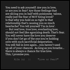 So glad I left a bad situation and found true, honest, solid love!