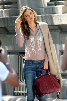 feminine blouse with jeans