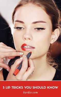 { 5 lipstick tricks you should know. // #Lips #BeautyTips }
