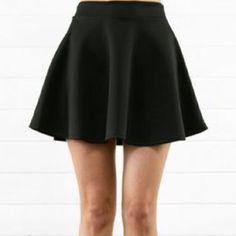 Black Skater Skirt Good condition! Tilly's Skirts