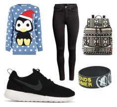 """""""Lazy Day"""" by omm2000 on Polyvore featuring Glamorous, NIKE, H&M and UNIONBAY"""