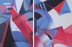 RAPHAEL BORER AND LUKAS OBERER - VIER FARBEN - ARTSTÜBLI  http://www.widewalls.ch/artwork/raphael-borer-and-lukas-oberer/vier-farben/ #painting
