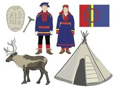 Sami People Clip Art by Chikabee Summer Camp Crafts, Winter Crafts For Kids, Camping Crafts, Christian Morgenstern, Winter Diy, Reindeer Craft, Happy Halloween, Image List, Gross Motor Skills