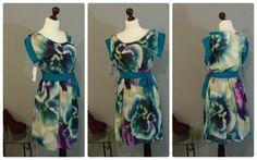 Цветочное платье анютины глазки | Платье-терапия от Юлии
