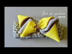 Laço de fita de gorgurao magico com dobras - DIY - Ribbon Bow - YouTube