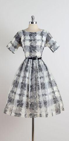 Through & Through . vintage 1950s dress . by millstreetvintage