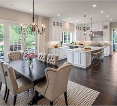 Inspiring Open Concept Kitchen You'll Love The Best Open Concept Kitchen Design Trends of 2018 Open concept kitchen- living room is perfect for small apartments but it also looks gorgeous in big spaces when the kitchen is connected with the dining room Home Decor Kitchen, New Kitchen, Home Kitchens, Kitchen Small, Kitchen White, Apartment Kitchen, Awesome Kitchen, Order Kitchen, Dream Kitchens