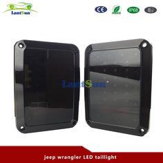96.80$  Watch now - http://alisvb.shopchina.info/1/go.php?t=32730983612 - One pair J011 Black Smoked Lens LED Reverse Brake Tail Lights For Jeep Wrangler JK 2007-2016 Smoked  #buyonline
