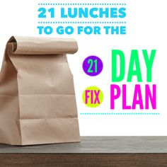 21 Lunches to Go for the 21 Day Fix Plan!