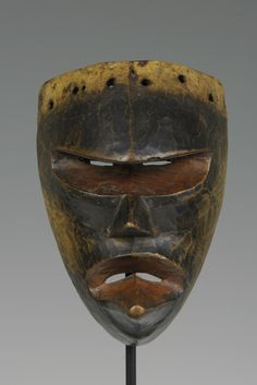 """Democratic Republic of the Congo; Chokwe peoples Mask Wood H. 16.51 cm (6.5"""") The University of Iowa Museum of Art, The Stanley Collection, X1986.441"""