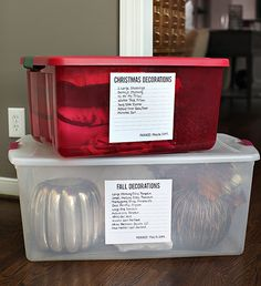 UHeart Organizing: DIY Attic Storage Labels