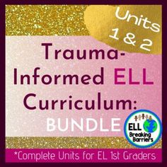 This all-encompassing curriculum provides everything needed to address the language needs of first-grade language learners suffering from traumatic pasts. Unit one covers the topic, feelings, and emotions. Unit two covers the topic, narrative storytelling. It is designed to encourage healing and suc... First Grade, Trauma, Curriculum, Storytelling, Encouragement, Language, Healing, The Unit, Resume