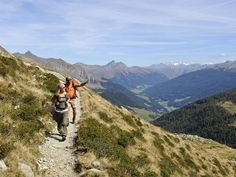 Hiking-trail at Merano 2000, South Tyrol, Italy