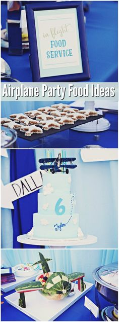 Ultimate Airplane Birthday Party - lots of great food ideas #aviationparty #aviationideas