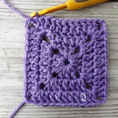 Crochet this solid granny square...simple, fun and pretty...good for when you want less holes, like for a pillow cover