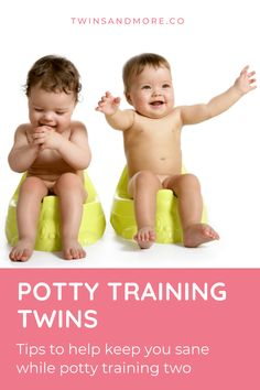 Getting ready for Potty Training Your Twins? Read this First.  Potty training is one of those last major toddler milestones that you have to go through.   Discover the lessons I learned potty training my own twins. I talk about the funny but often stressful phase of potty training twins and how to maintain your sanity.  #twinsandmore #pottytrainingtwins #twinmomlife Twin Toddlers, Twin Babies, Toilet Training, Potty Training, Toddler Milestones, Twin Tips, Sibling Rivalry, Raising Twins, The Funny