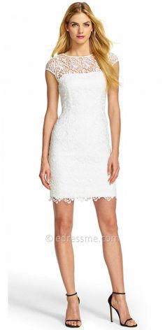 Illusion Lace Overlay Cocktail Dress by Adrianna Papell #edressme