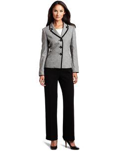 Lesuit Women's Framed Jacket Pant Suit $200.00