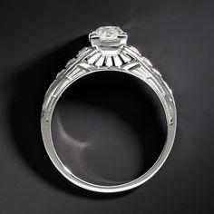 .80 Carat Diamond Art Deco Engagement Ring - 10-1-6782 - Lang Antiques