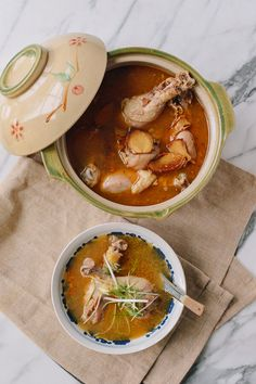 Taiwanese Sesame Oil Chicken Soup (台湾麻油鸡汤) - The Woks of Life Asian Recipes, Healthy Recipes, Ethnic Recipes, Asian Foods, Chinese Recipes, Chinese Food, Sesame Oil Chicken, Taiwanese Cuisine, Taiwanese Recipe