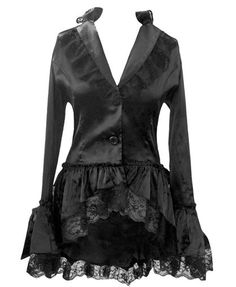 83156f5f22a Gothic Corset Bustle Lace Satin Jacket. US Sizes 6 To 28. Buy Here   http   amzn.to 1whweFB
