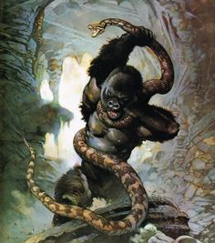Frank Frazetta has done some amazing King Kong paintings over the years! Frank Frazetta, King Kong 1933, King Kong Skull Island, King Kong Vs Godzilla, Famous Monsters, Classic Monsters, Fantastic Art, Awesome, Horror Art