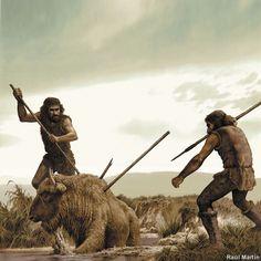Raul Martin - Homo Sapiens cazando un Bisonte.jpg (Imagen JPEG, 1000 × 1000 píxeles) - Escalado (67 %)