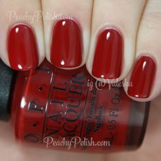 OPI Romantically Involved - Fifty Shades of Grey Collection Cute Nails, Pretty Nails, Nagellack Trends, Opi Nails, Opi Red Nail Polish, Bling Nails, Nail Polishes, Nagel Gel, Manicure And Pedicure