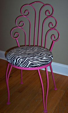 Hot Pink Desk Chair   Uniquely Chic: A Little Hot Pink and Zebra Print