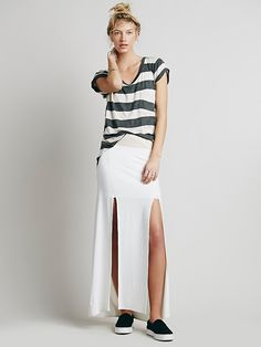 Liberty Garden Double Slit Maxi Skirt at Free People Clothing Boutique