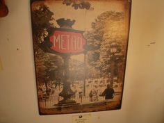French Parisianne Metal Metro Hanging Sign Design no 2. - The Garden Room