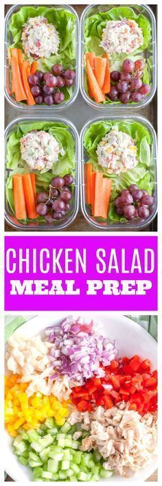 Made with Greek yogurt and loaded with veggies. A healthy lunch for the week. Made with Greek yogurt and loaded with veggies. A healthy lunch for the week. Lunch Meal Prep, Meal Prep Bowls, Easy Meal Prep, Healthy Meal Prep, Healthy Snacks, Healthy Eating, Healthy Recipes, Lunch Box Meals, Meal Prep Salads