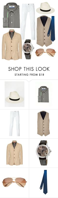 """""""Summer in Panama!!!"""" by skylerlou2704 ❤ liked on Polyvore featuring ASOS, MSGM, River Island, FAY, Raymond Weil, SW Global, Burberry, men's fashion and menswear"""