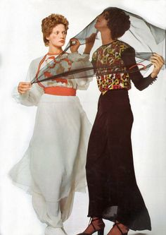 Willy Van Rooy and Donna Mitchell by Chris von Wangenheim Vogue Italia 1970