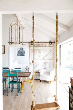 Swing Indoor, Home Living Room, Living Room Decor, Bedroom Swing, Home Swing, Aesthetic Rooms, Little Houses, New Room, Furniture Makeover