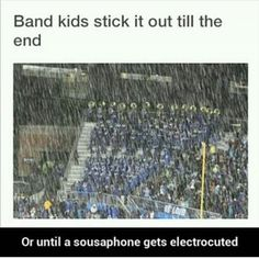 Same thing goes for choirs. We did not work so hard not to be heard, damn it!