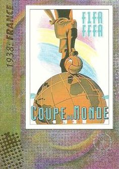 2002 Panini World Cup #6 Official Poster 1938 France Front