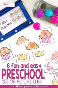 Preschool Color Activities - Fun Games for Teaching Colors Preschool Color Activities, Autism Activities, Educational Activities, Preschool Activities, Disney Activities, Alphabet Activities, Preschool Classroom, Preschool Learning, Early Learning