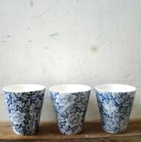 Orchid pots blue print Ceramic Planters, Planter Pots, Orchid Pot, Contemporary Ceramics, Stoneware, Orchids, Container, Mugs, Tableware