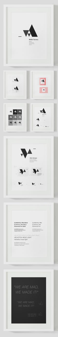 MADe factory (branding) by Alain Wenger, via Behance