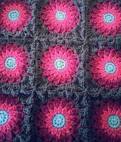 Rosy Posy Sunburst Granny Flower Square by CrochetByChickieDees, $180.00