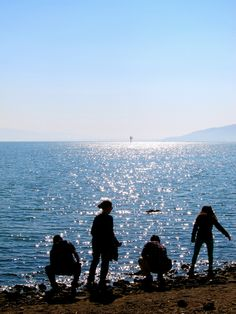 I can see Jesus walking on water in this picture of the Sea of Galilee