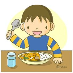 I use a spoon to eat my dinner. Baby Clip Art, Autism Activities, School Pictures, Special Needs Kids, Cute Characters, School Classroom, Cartoon Kids, Pre School, Diy For Kids