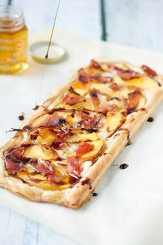 Cooks with Cocktails | Peach, Proscuito and Brie Tart | http://cookswithcocktails.com