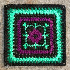Mellie Blossom: July Crochet Along Squares. You can find the free pattern 'Whimsical Block' by Black Sheep Creations here: http://wicked.diskstation.me/wordpress/?p=284